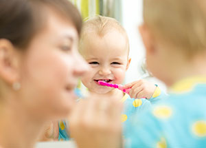 Child Brushing Teeth - Pediatric Dentists in Houston, Memorial and The Heights, TX