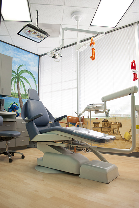 Exam Chair for Pediatric Dentist in Houston, Memorial and The Heights, TX