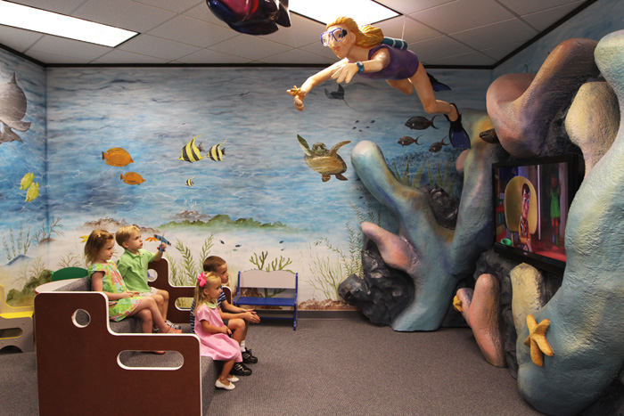Play Area in Pediatric Dentist Office in Houston, Memorial and The Heights, TX