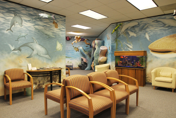 Waiting Room for Pediatric Dentist in Houston, Memorial and The Heights, TX